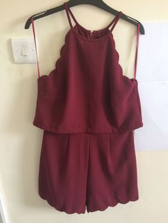 Ladies New Look Size 10 Playsuit Burgundy Open Back in Clothes, Shoes & Accessories, Women's Clothing, Jumpsuits & Playsuits | eBay