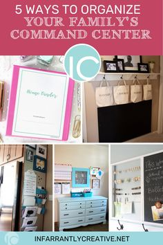 The Army, NASA, and any busy family have one thing in common: they all need a central command station, a dedicated space to do that planning. Creating a household command center is one way to keep you organized! I've found five great ways that you can create your own family central command station–on a budget–with easy-to-find supplies. Organization Station, Diy Organization, Organization Ideas, Family Command Center, Command Centers, Knock Off Decor, Household Budget, Organizing Your Home, Diy Home Improvement
