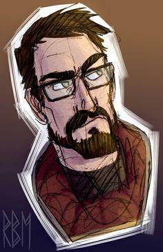 Half Life Game, Gordon Freeman, Valve Games, Nerd Geek, Life Drawing, Game Character, Videogames, Fanart, Drawings