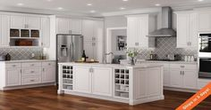 Hampton Bay Hampton Assembled in. Drawer Base Kitchen Cabinet with Ball-Bearing Drawer Glides in Satin - The Home Depot Kitchen Cabinets Home Depot, Unfinished Kitchen Cabinets, White Kitchen Cabinets, Kitchen Furniture, Kitchen Remodel, Wall Cabinets, Pantry Cabinets, Kitchen Cabinets That Look Like Furniture, Glass Cabinets