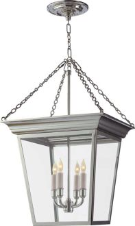SMALL CORNICE HANGING LANTERN; in bronze, family room option will need to scale once overall height of room is determined.