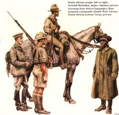 This Day in History: Mar SA troops invade East Africa in World War I Military Personnel, Military Men, Military History, Military Uniforms, World War One, First World, Army Drawing, British Army Uniform, Colouring Pics