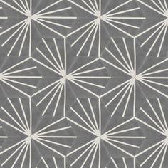 Hand-made encaustic tiles. Encaustic Tile, Concrete Tiles, Hexagon Tiles, Handmade Tiles, Wet Rooms, Kitchen Tiles, Bathroom Inspiration, Grey And White, Art Deco
