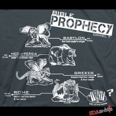 Bible Prophecy Beasts - Daniel 7 Christian tee t-shirt Revelation Prophecy, Psalm 77, End Times Prophecy, Bible Mapping, Christ In Me, Biblia Online, Spiritual Gifts, Bible Lessons, Bible Verses