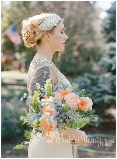 Ash Mill Farm Vintage and Romantic Wedding - Fab You Bliss 1920s Headpiece, Flapper Headband, Rhinestone Headband, Wedding Sash Belt, Tiara Hairstyles, 1920s Wedding, Flappers, Wedding Hair Accessories, Bridal Headpieces