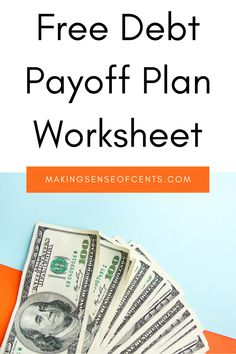 Free Debt Payoff Plan Worksheet Debt Repayment, Debt Payoff, Budgeting Finances, Budgeting Tips, Monthly Budget Printable, Budgeting Worksheets, Finance Organization, Family Budget, Budget Template