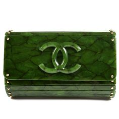 """Narvelan....says....""""Someone could get killed over this Chanel Green Bakelite Runway Bag!"""""""
