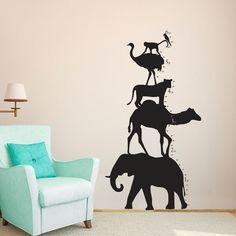 Animal Tower Growth Chart