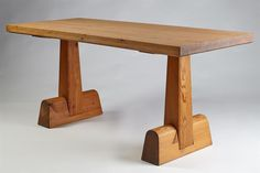 Designed by Axel Einar Hjorth for Nordiska Kompaniet, Sweden. H: 75 cm/ 29 L: 170 cm/ W: cm/ 27 Furniture Making, Diy Furniture, Modern Furniture, Wood Desk, Wood Table, Trestle Dining Tables, Woodworking Desk, Office Table, Solid Pine