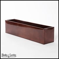 Upgrade your home's exterior with planter boxes in elegant finishes. The Oil-Rubbed Bronze Window Box Liners by Hooks and Lattice are made of durable galvanized metal. And not only are they fabulous as planter box liners nestled inside of our aluminum or Metal Window Boxes, Window Planter Boxes, Outdoor Planters, Hanging Planters, Outdoor Decor, Planter Box Liners, Shade Screen, Artificial Flower Arrangements, Galvanized Metal