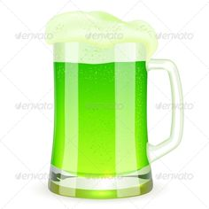 Saint Patrick's Day Pint of Green Beer