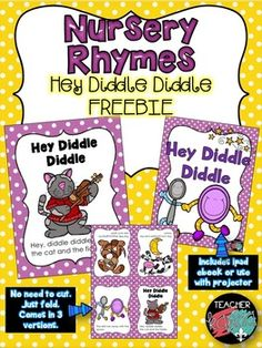 Free nursery rhyme readers by teacher karma free nursery rhymes hey diddle diddle foldable nursery rhyme reader and ebook this freebie is part of a full product download please click on the link below to see 125 page fandeluxe Image collections