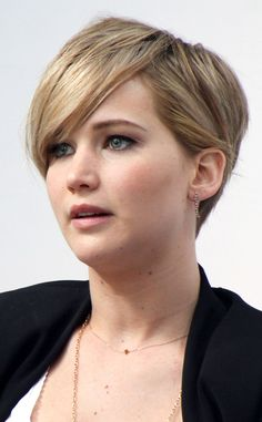 Jennifer Lawrence pixie haircut.  Jennifer Lawrence Cut Hair Short Because It Was Fried, Couldn't Get Any Uglier | E! Online Mobile