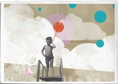 Hey little sailor Fine Art Collage Illustration by EineDerGuten, €18.00