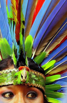 Queretaro, Mexico by Debbie Riedlinger We Are The World, People Around The World, Around The Worlds, World Of Color, Headdress, Color Splash, Beautiful People, Portraits, Aztec Culture