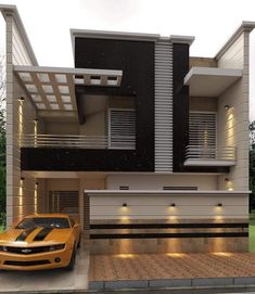 There are many modern residential house design ideas that we can discuss. Here we have outlined some key examples of modern residential house design ideas Modern Exterior House Designs, Modern Architecture House, Cool House Designs, Modern House Design, Classic House Design, Bungalow House Design, House Front Design, House Construction Plan, Indian House Plans