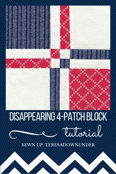 4-patch quilt block tutorial. Quick and easy quilt block for beginners