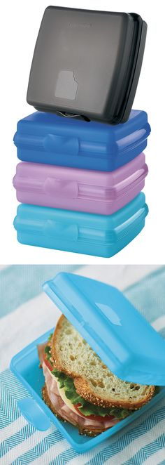 Sandwich Keepers Set. Everyone needs a handful of these fabulous containers for themselves and their family. The Sandwich Keeper is a one-piece wonder. Designed to fit easily into backpack, briefcase or purse, the container's one-piece construction means no seals to keep track of or to get lost.