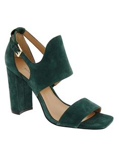 Hunter Green Suede Sandals from Banana Republic // the perfect fall sandal
