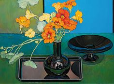 """catmota: """"Memories of Giverny Criss Canning more works by this artist """" Plant Illustration, Botanical Illustration, Australian Artists, Botanical Art, E Design, Bouquet, Art Images, Flower Art, Still Life"""