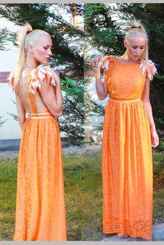 Anca Oniga In love with orange Dress