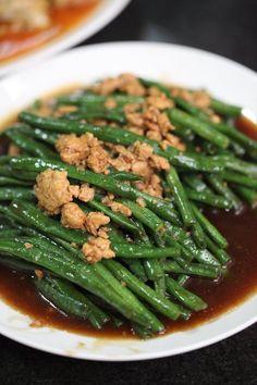Resep Tumis Kacang Panjang Daging Cincang