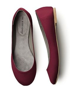 Simple Satin Ballet Flat - for bridesmaids??? http://www.