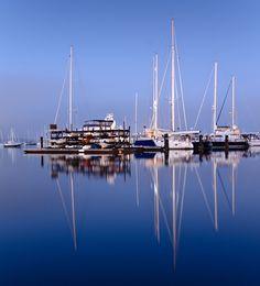 Pre-Dawn Reflections across Newport Harbor - Newport, Rhode Island, USA