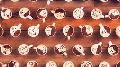Una historia de amor animada con stop motion con 1000 cafés ilustrados - Japanese coffee brand animates stop-motion story with 1000 Latte Artworks