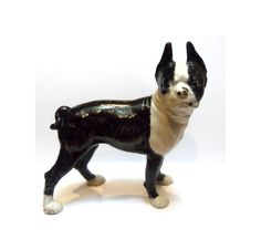 Vintage Cast Iron Boston Terrier by HLKVintage