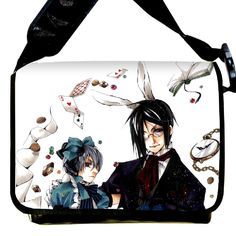 Amazon.com: Bestfyou® Anime Style black butler School Bag/Shoulder Bag With Removable Cover: Office Products