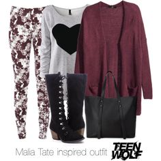 Malia Tate inspired outfit/Teen Wolf by tvdsarahmichele on Polyvore featuring H&M, Stylista Select and Forever 21
