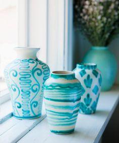 Kupittaan Savi Pottery from Glorian Antiikki Photo Piia Arnould. Turquoise Home Decor, Pottery Wheel, Ceramic Pottery, Finland, Scandinavian, Mint, Vase, Ceramics, September 2014