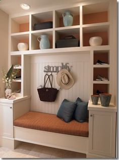 Great idea for a mudroom thats on the home entrance