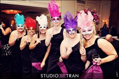 Mardi Gras Masks for bridal party
