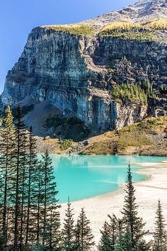 Lake Louise Beach, Banff National Park, Alberta, Canada