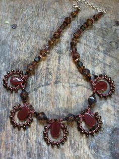 Lacey Necklaces - Two Son Jewelry | There was a blackish blue one at Oysterfest that looked fabulous on me and I'm keeping my eye on~