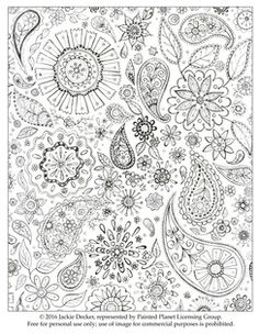 Free downloadable coloring book page! ©Jackie Decker, Painted Planet Licensing Group
