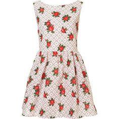 Check Floral Lattice Sun Dress