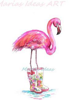 Flamingo Gifts, Flamingo Decor, How To Draw Flamingo, Flamingo Pictures, Flamingo Painting, Bird House Kits, Alpaca, Sell My Art, Pink Bird