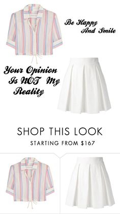 """Be Happy And Smile"" by xmeem ❤ liked on Polyvore featuring beauty, Solid & Striped and Boutique Moschino"