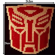 autobot transformers perler beads by nostra drawing