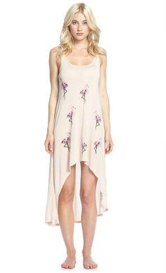 Daria Mini Flamingos Asymmetrical Mini Tank Dress