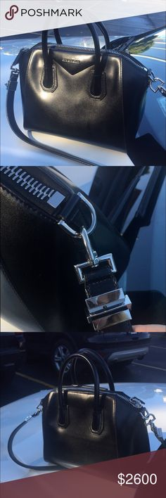 Medium size Antigona Givenchy bag. Selling a barely used medium size Antigona Givenchy bag in great quality.  It has the shiny leather and silver accents. Bought around 9 months ago. Givenchy Bags Shoulder Bags