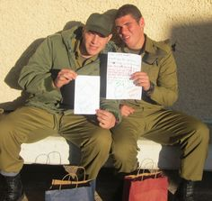 Amazing that the soldiers actually receive the letters people have written them!! :)