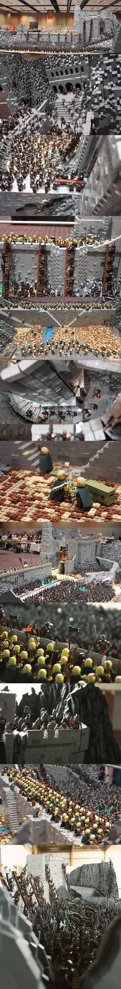 Helms Klamm mit 150.000 Legosteinen nachgebaut | Webfail - Fail Bilder und Fail Videos