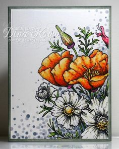 Pointilism Poppy Bouquet by dini - Cards and Paper Crafts at Splitcoaststampers