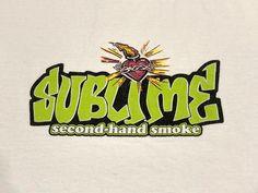 Sublime Second-Hand Smoke T Shirt Burning Heart Stoner Logo   Etsy Vintage Band T Shirts, Ska Punk, Sewing Stores, Second Hand, Punk Rock, Cotton Tee, Vintage Outfits, Smoke, Logo