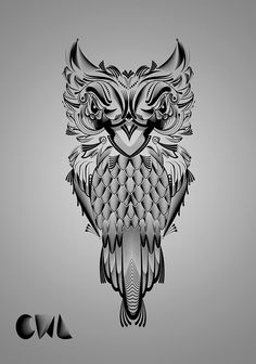 Lines and Dots Owl on Behance