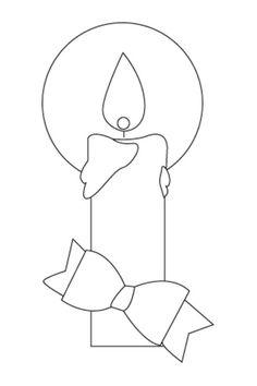 vela navidad dibujo de navidad para imprimir